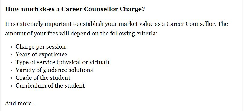 Earning Opportunities for a Career Counsellor