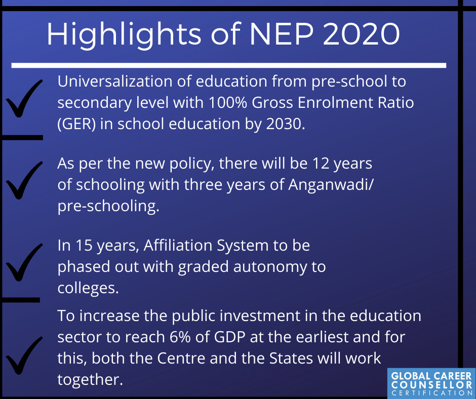 Some Highlights of NEP 2020
