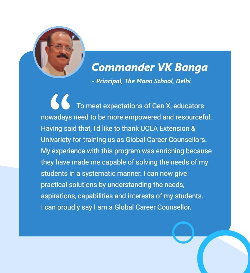Testimony by Commander VK Banga